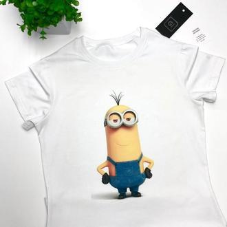 Крутая футболка Gi Миньён белый