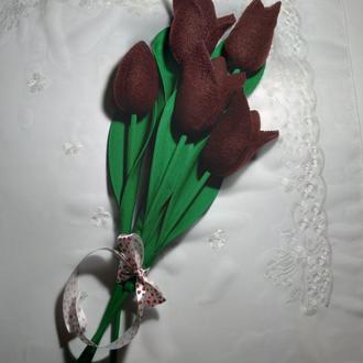 Крупные тюльпаны из флиса. Оригинальный подарок.