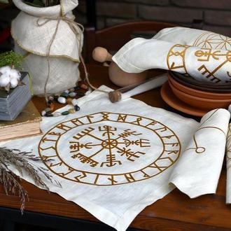 Набор вышитых салфеток Компас викингов