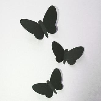 Вихрь, бабочки из картона на стену 3Д, 50 шт.