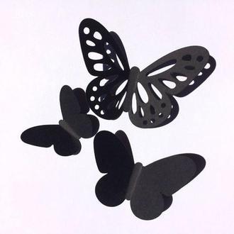 Воздушный, бабочки из картона на стену 3Д, 25 шт.