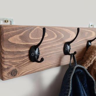 Вешалка для Одежды в Прихожую Деревянная Полка для Одежды