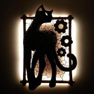 Картина панно ночник Пантера