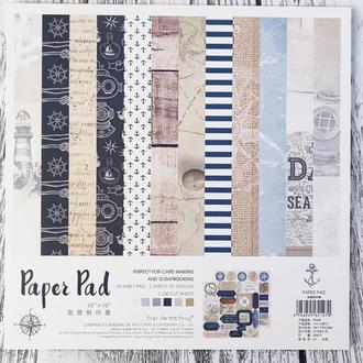 Набор дизайнерской бумаги для скрапбукинга  (26 листов)