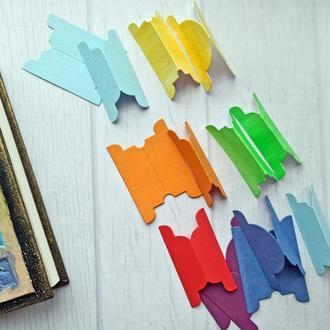 Боковые  разделители. Табы-разделители для блокнотов, записных книжек, еженедельников, скетчбуков