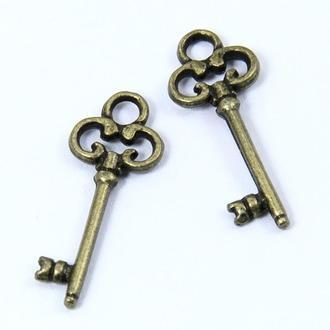 Ключ подвески для украшений, размер 21x8x2мм, 1 уп - 5 шт