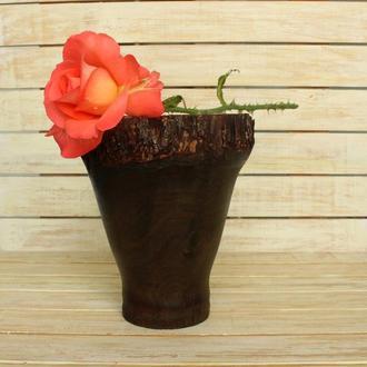 Вазока із дерева/ ваза из дерева