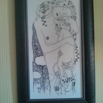 Густав Климт Три возраста женщины. Монохромный вариант картины