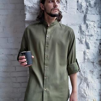 Мужская рубашка из 100% льна