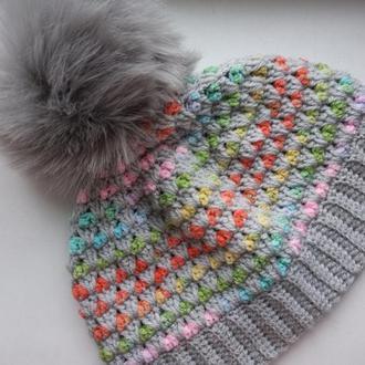 Женская шапочка на флисе