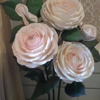 Светильник куст роз из изолона интерьерные цветы