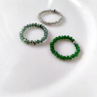 Перстеники з кришталем - кольца с хрусталем на стали