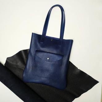 Базовая женская кожаная сумка