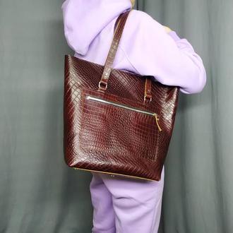 Женская сумка шоппер с карманом на молнии