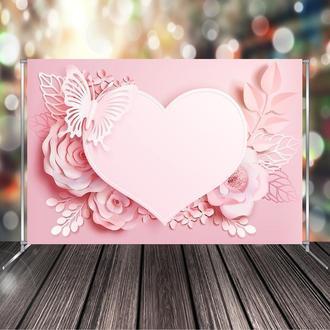 """Фото-зона """"Свадебная розовое сердце"""""""