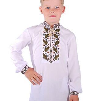 Сорочка Вишиванка Для Хлопчика Дубочок (Сорочкова Біла)