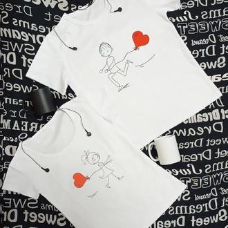 Парная футболка с принтом