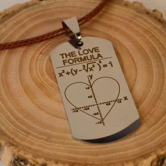 Кулон с гравировкой на подарок,Металлический кулон с гравировкой, подвеска, подарок 14 февраля