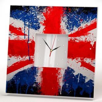"""Настінні арт годинник """"Британський прапор"""""""