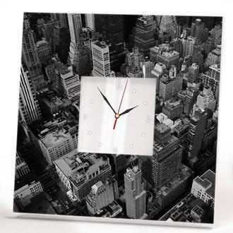 """Современные настенные часы """"Нью-Йорк. Манхэттен. Небоскребы"""""""