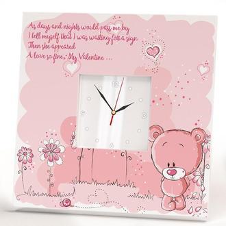 """Handmade Настенные часы """"Для любимой. 14 февраля. День Святого Валентина"""""""