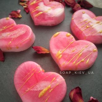 Мыло сердце.Мыло Валентинка на 14 февраля