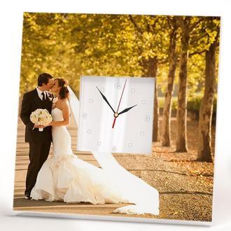 """Часы с индивидуальным дизайном """"Свадьба. Любовь. Для влюбленных"""""""