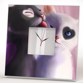 """Настенные часы """"Кошечки. Любовь"""""""