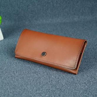 Женский кожаный кошелек Флай, кожа итальянский краст, цвет коричневый