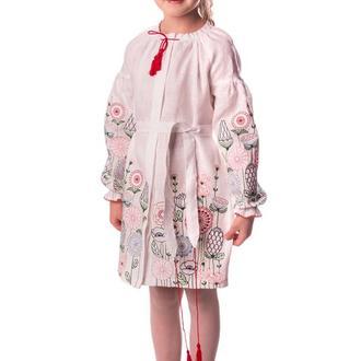 Сукня для дівчинки Олеся (льон білий)