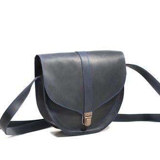 Полукруглая женская сумка