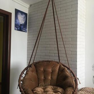Кресло гамак, кресло макраме, садовое кресло, ручная работа