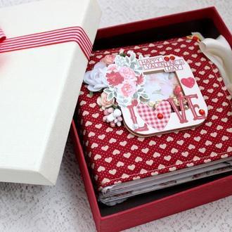Фотоальбом история любви , альбом для влюбленных , подарок на День Святого Валентина