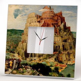 """Настінні годинники Пітер Брейгель """"Вавилонська вежа"""""""