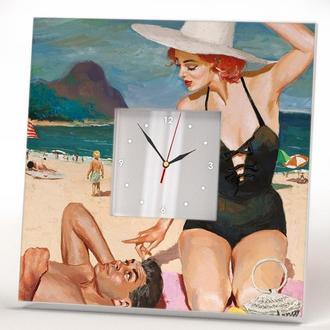 """Часы картина """"Лето Море Пляж"""""""