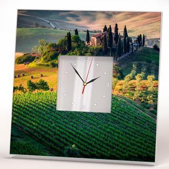 """Годинник з фотодруком """"Тоскана"""""""