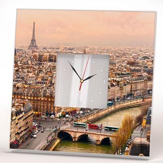 """Годинник в подарунок з декором """"Париж"""""""
