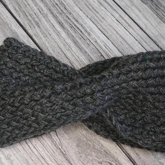 Повязка на голову - вязаная повязка на голову