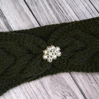 Вязаная повязка на голову -  повязка чалма
