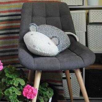 """подушка-мишка """"Сірий меланж"""""""