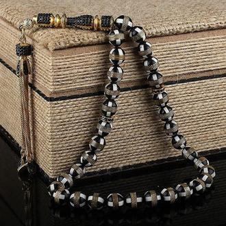 Позолоченный серебряный ювелирный подарок Четки с кисточкой Kuka Tesbih Имам ручной работы
