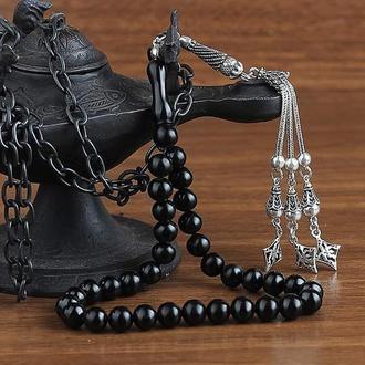 Четки черные Эрзурум Олту с серебряной кисточкой ручной гравировкой инкрустация серебра