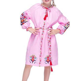 Сукня для дівчинки Сона (льон рожевий)