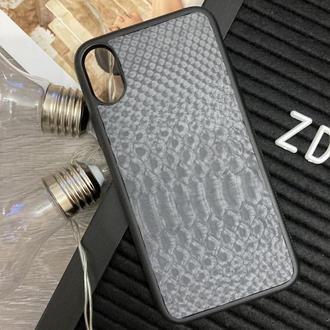 Чехол на IPhone X из натуральной кожи питона