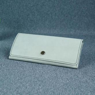 Женский кожаный кошелек Флай, винтажная кожа, цвет серый