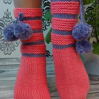 Вязаные домашние носки - Идея для подарка