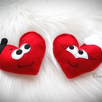 Милые задорные валентинки сердечки. Мини подарок для неё или него