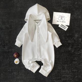 Комбінезон - зайчик білий (айворі)