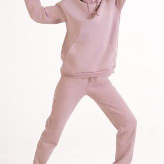 Розовый спортивный костюм |Костюм с худи цвета пепел розы Colo