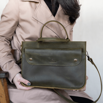 Стильная женская сумка через плечо ручной работы из натуральной кожи с винтажным эффектом